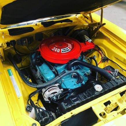 340 Engine installed in 1971 Plymouth Cuda
