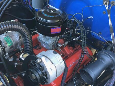 Small block Chevy installed in 1950 Chevy 3100